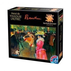 Henri de Toulouse Lautrec ballo al moulin rouge - puzzle 515 pezzi