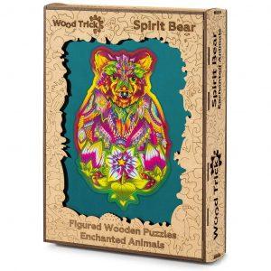 Puzzle di Legno tagliato al Laser 184 pezzi, Spirit Bear - Wood Trick